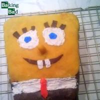 1. Versuch einer Motivtorte Spongebob