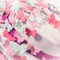 Doppelstöckige Schmetterlingstorte