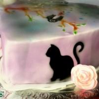 Airbrush Katzen Torte